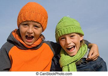 boldog, egészséges, gyerekek