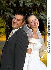 boldog, esküvő párosít