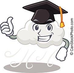 boldog, felhős, black kalap, ünnepély, szeles, arc, ...