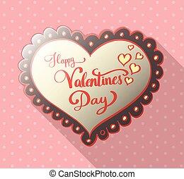 boldog, Felirat, Nap,  valentine's