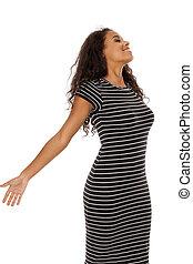boldog, fiatal, african american woman