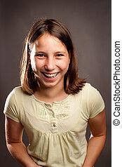 boldog, fiatal lány