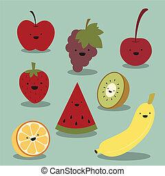 boldog, gyümölcs