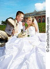 boldog, menyasszony inas, dísztér