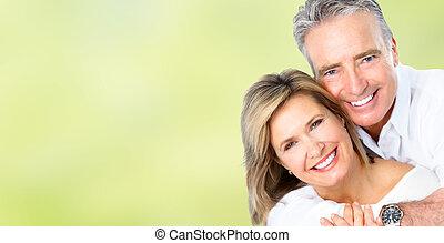 boldog, párosít., idősebb ember