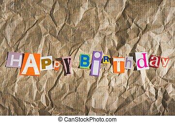 boldog születésnapot, üzenet