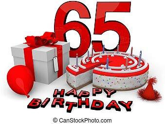 boldog születésnapot, alatt, piros