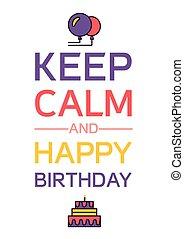 boldog születésnapot, csendes, tart