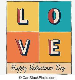 boldog, valentin nap, kéz, felirat