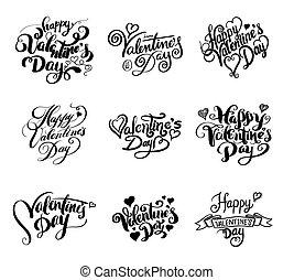 boldog, valentin nap, lettering.