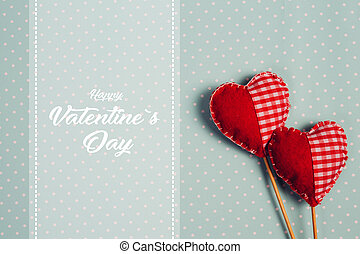 boldog, valentines nap, és, heart.