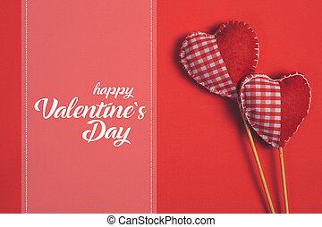 boldog, valentines nap, és, szív