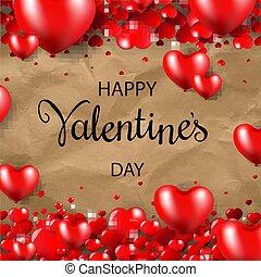 boldog, valentines nap, határ, kartonpapír, háttér