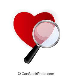 boldog, valentines nap, kártya, noha, heart., vektor, ábra