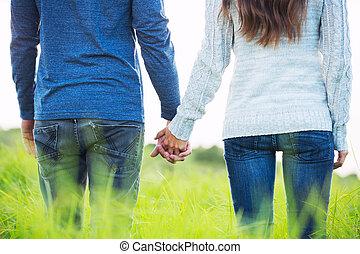 boldog, young párosít, szerelemben