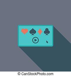 boldspil video, lejlighed, ikon