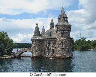 boldt, ontario, château, lac