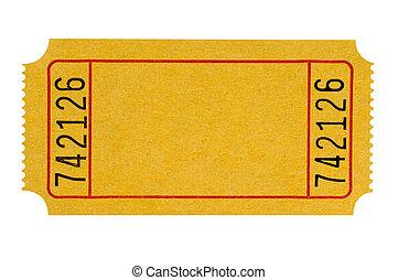 boleto, amarillo, blanco