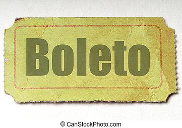 boleto, :, amarillo, español