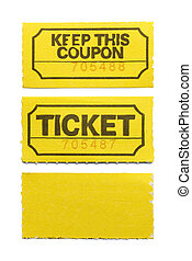 boleto, amarillo