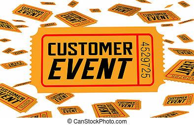 boletos, ilustración, vip, invitación, cliente, exclusivo, ...
