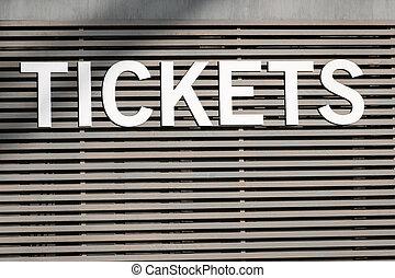 boletos, mostradorde entradas, -