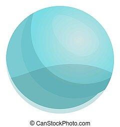 bolha, bola, gengiva, ícone, caricatura, estilo