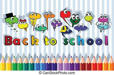 bolha, costas, caráteres, escola