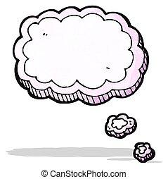 bolha pensamento, caricatura