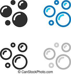 bolha sabão, ícones