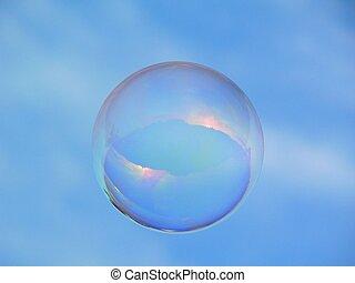 bolha sabão