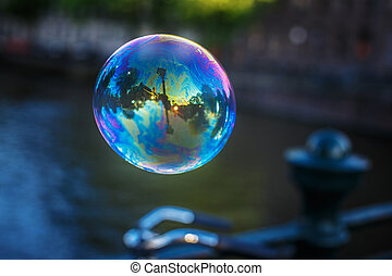 bolha sabão, .