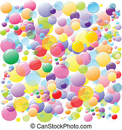 bolhas, colorido