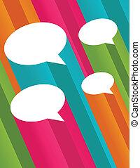 bolhas, fala, coloridos, 3d