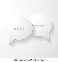 bolhas, fala, conversa, ícone