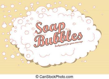 bolhas, sabonetes