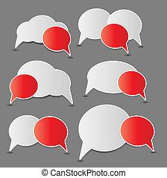 bolhas, vetorial, fala, ilustração