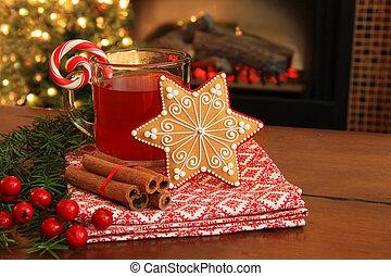 bolinho christmas, e, drink.