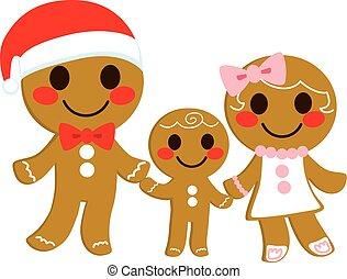 bolinho gingerbread, família