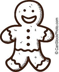 bolinho gingerbread, homem