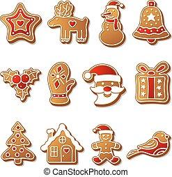 bolinhos gingerbread, jogo, natal