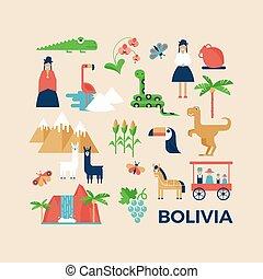 bolivia, begroetende kaart, sightseeing
