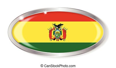 Bolivia Flag Oval Button
