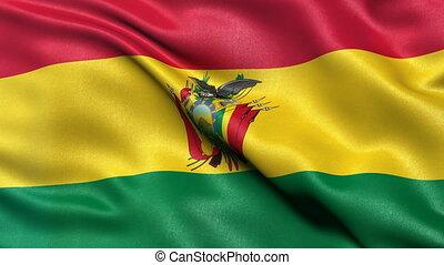 Bolivia flag seamless loop