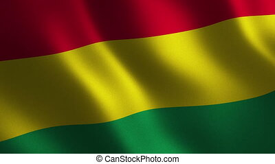 Bolivia flag waving 3d. Abstract background. Loop animation. Motion graphics