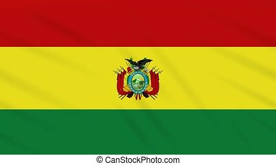 Bolivia flag waving cloth, ideal for background loop