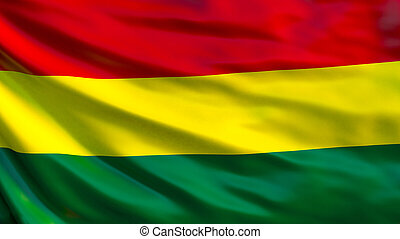 Bolivia flag. Waving flag of Bolivia 3d illustration