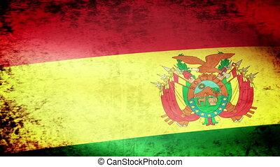 Bolivia Flag Waving grunge