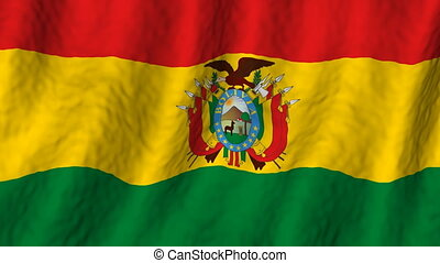 Bolivia looping flag animated background