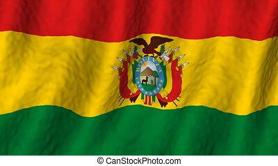Bolivia looping flag